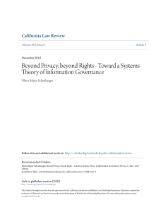 Toward a Systems Theory of Information Governance