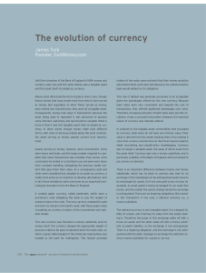 The evolution of currency