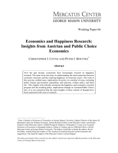Economics and Happiness Research: Insights