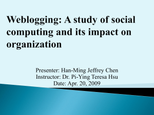 A study of social computing and its impact on organization