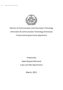 EGOV strategy DRAFT for afghanistan conclusion Ministry of