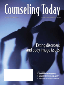 Eating disorders and body image issues