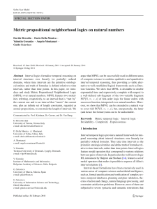 Metric propositional neighborhood logics on natural numbers
