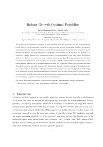 Robust Growth-Optimal Portfolios