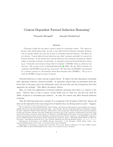 Context$Dependent Forward Induction Reasoning