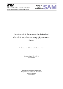Mathematical framework for abdominal electrical impedance