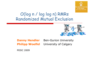 Randomized local-spin mutual exclusion