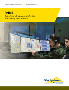 Radio Network Management System Plan. Deploy