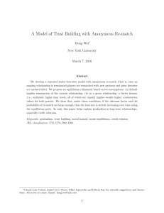 A Model of Trust Building with Anonymous Re-match