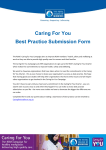 you Best Practice Submissions sample case study template