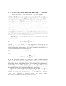 A KRYLOV METHOD FOR THE DELAY EIGENVALUE PROBLEM 1