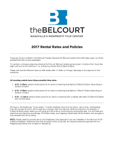 2017 Rental Rates and Policies