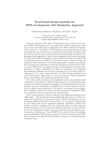 Proof-based formal methods for WSN development