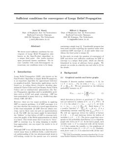 Sufficient conditions for convergence of Loopy