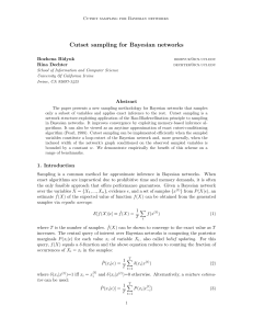 Cutset sampling for Bayesian networks