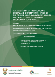 an assessment of the economic, social and conservation value of