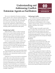 Understanding and Addressing Conflict: Extension Agents as