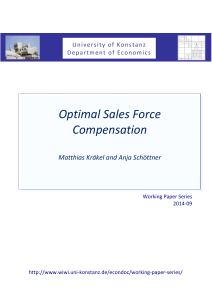 Optimal Sales Force Compensation