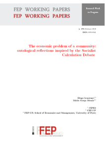 The economic problem of a community - FEP
