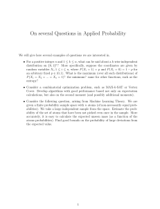 On several Questions in Applied Probability
