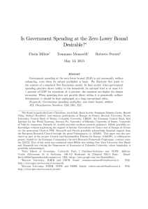 Is Government Spending at the Zero Lower Bound Desirable?