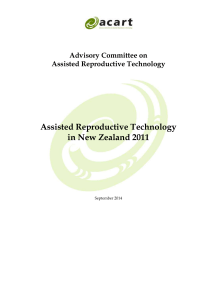 Assisted Reproductive Technology in New Zealand 2011