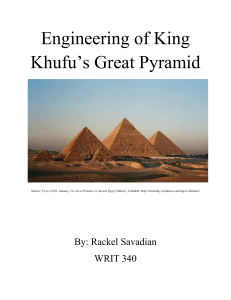 Engineering of King Khufu`s Great Pyramid Source: V.Loy. (2011
