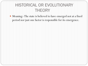 historical or evolutionary theory - GCG-42