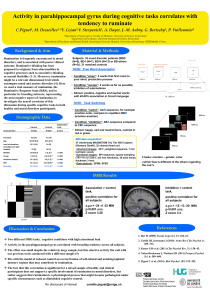 Activity in parahippocampal gyrus during cognitive tasks