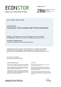 Continuous Time Contests with Private Information