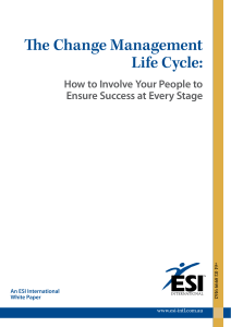 The Change Management Life Cycle: