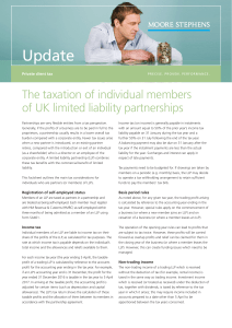 The taxation of individual members of UK limited