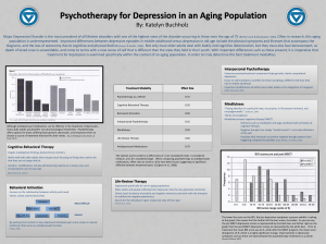 Psychotherapy for Depression in an Aging Population