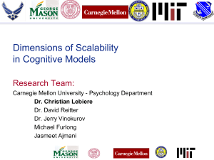 Dimensions of Scalability in Cognitive Models