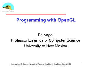 Angel`s intro to OpenGL Shaders