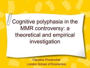 Cognitive polyphasia in the MMR controversy: a theoretical and