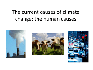 The current causes of climate change: the human causes