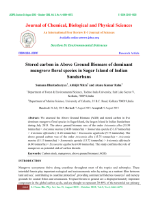 Journal of Chemical, Biological and Physical Sciences Stored