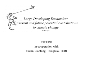 Solveig Glomsrød: Large developing economies: current and