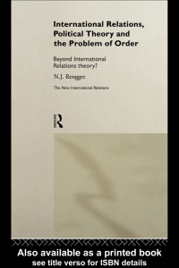 International Relations, Political Theory and the problem of Order