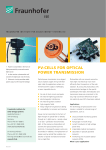 pv-cells for optical power transmission - Fraunhofer