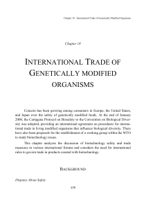 INTERNATIONAL TRADE OF GENETICALLY MODIFIED ORGANISMS