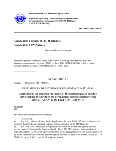 Review of ITU-R activities/RNSS issues