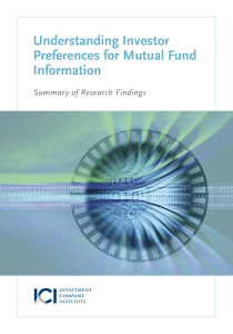 Understanding Investor Preferences for Mutual Fund Information