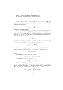 Gauss` Theorem Egregium, Gauss-Bonnet etc. We know that for a