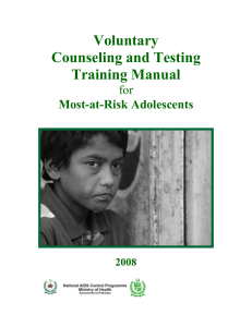 VCT for MARA Manual - National AIDS Control Programme