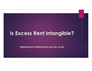 Is Excess Rent Intangible?