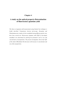 A study on the optical property-Determination of