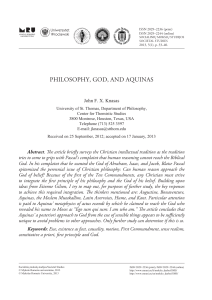 philosophy, god, and aquinas