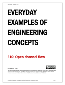 F10: Open channel flow - Realize Engineering